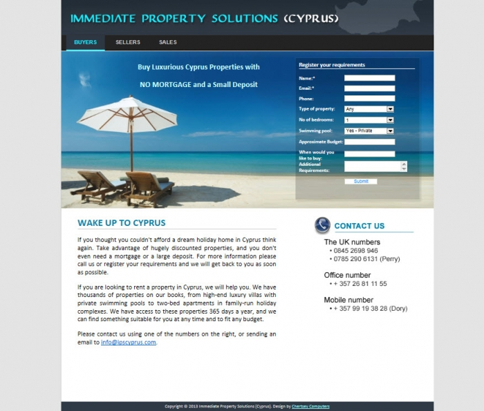 Immediate property solutions (Cyprus)