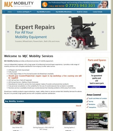 MJC mobility services and repairs
